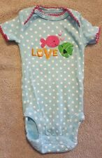 ADORABLE! CARTER'S NEWBORN LOVE FISH BODYSUIT REBORN