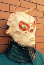 Deluxe Alien Mask Fancy Dress Halloween Latex Full Head Costume Roswell UFO Real