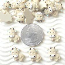 "From USA - 30 pcs x 1/2"" Resin Marvelous Moo Moo Cow/Ox Flatback Cabochon SB640"
