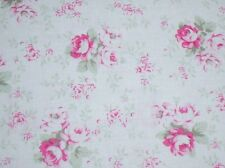 Per 1/2 Yard Cottage Chic & Shabby Slipper Roses Washed Roses PWTW091-Blue