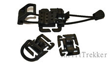 MOLLE PALS Military Accessory Set D-Ring Hydration Clip Elasto Lok Ships Free!