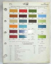 1977 VOLKSWAGEN PPG COLOR PAINT CHIP CHART ALL MODELS ORIGINAL