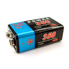 1 x 9V Volt 350mAh PP3 NiMH Rechargeable Battery 17R8H Power