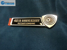 MAZDA RX-8 NEW OEM 40TH ANNIVERSARY ROTARY ENGINE RIGHT SIDE EMBLEM