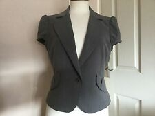 BCBG Max Azria Ladies Grey Capped Sleeve Jacket Size M. Brand New With Tags.