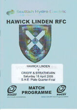 18 APR 2009 HAWICK LINDEN v CRIEFF & STRATHEARN, PLATE COMP