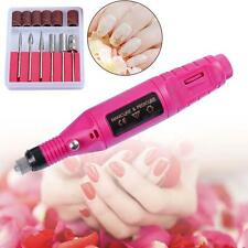 ELECTRIC PEN-SHAPE NAIL DRILL Handpiece Machine +6 BIT Acrylic UV Gel G^
