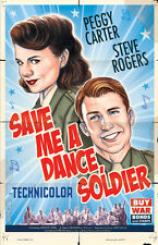 AGENT CARTER STEVE ROGERS 40's Musical Poster Scott Blair Art