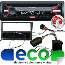 Vauxhall Astra H SONY CD MP3 USB AUX Car Stereo Steering Wheel Kit & Black Facia