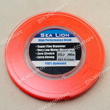NEW Sea Lion 100% Dyneema Spectra Braid Fishing Line 300M 15lb Orange