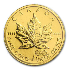 2000 Canada 1/10 oz Gold Maple Leaf BU (Oval 2000 Privy Mark) - SKU #85360