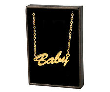BABY 18ct Gold Plating Necklace With Name - Xmas Christmas Girlfriend Gift Ideas