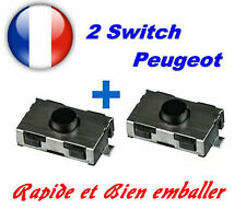2 Interruttore pulsante da chiave telecomando per Peugeot 206 307 406 Citroen