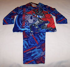 Transformers Optimus Prime Boys Blue Printed Flannel Pyjama Set Size 3 New