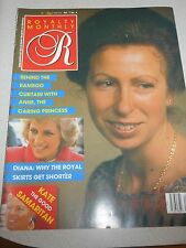 Royalty Monthly Magazine Vol 7 No 4 Princess Anne Jan 1988
