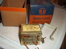VINTAGE THORDARSON FILTER CHOKE BOX w LINE OP IMPEDANCE MATCHING TRANSFORMER