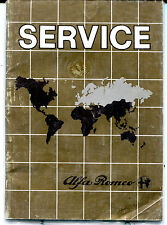 Alfa Romeo Guide To Service Network Revised To Dec. 1981 VG 011916jhe