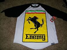 Enemy of the State Mens 3/4 Length Sleeve Shirt NWT Size M Headless Stallion