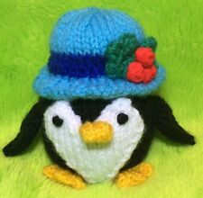 KNITTING PATTERN - Chubby Penguin choc orange cover / 10 cms Christmas toy