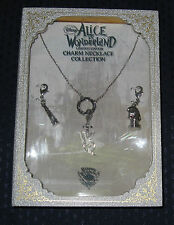 Disney Couture Limited Edition Alice In Wonderland Charm Necklace Collection