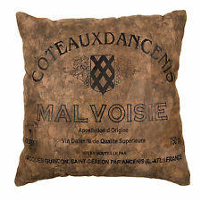 Malvois Vintage Distressed Real Leather Suede Filled Cushion & Cover Sofa Pillow