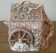 RARE Watermill Cottage Teapot 20 oz Pitcher Detailed Cobblestones Leaves Tree 6""