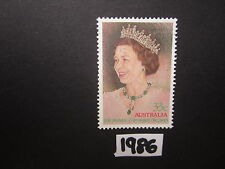 Australian Stamps: 1986 60th Birthay of Queen Elizabeth II Used
