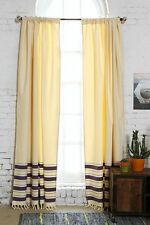 NEW URBAN OUTFITTERS LOCUST 4040 GRAY STRIPE CURTAIN WITH TIE BACK 52 X 96
