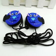 Stich Blue 3.5mm Clip on Earphone Headphone for MP3/4 Mobilephone iPhone Samsung