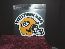 GREEN BAY PACKERS TITLE TOWN USA DECAL DIE CUT LOGO 8 INCH FOR  CAR OR HOME