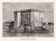 13 TARASCON CHATEAU DU ROI RENE CASTLE GRAVURE 1878 ENGRAVING
