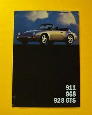 1993  PORSCHE 911 - 968 - 928 GTS SHOWROOM SALES BROCHURE/FOLDOUT POSTER