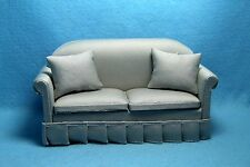 Dollhouse Miniature Sofa / Couch with Pillow2 in Grey ~ CLA10951
