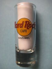COZUMEL,Hard Rock Cafe,Shot Glass,New,Black Circle,Black Letters