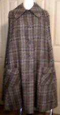 A81 NAMDLEF plaid, 2-pocket WINTER cape. Perfect for full & square dance skirts