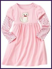 NWT girls 3 gymboree HOMECOMING KITTY pink DRESS cotton knit long sleeve . .RARE