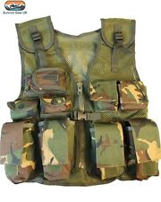 Kids DPM Assault Vest Fancy Dress Childrens Military Army Camo Combat Soldier