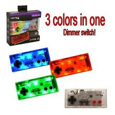 NES USB LED Classic Controller - Dimmable LED Light Up! Color - Nintendo Retro