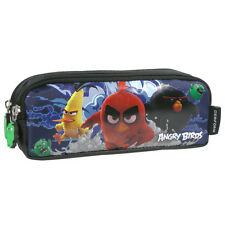 Angry Birds MOVIE Double Pencil Pouch Tube Case School Black