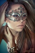 Luxury Silver Beautiful Metal Laser Cut Venetian Halloween Ball Masquerade Mask