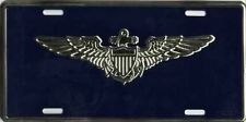 License Plate - USN  Pilot  Aviation Wings - US Military