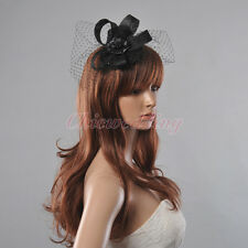 Cocktail Flower Fascinator Sinamay Feather Kentucky Church Derby Wedding Hat