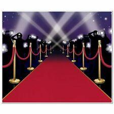 Insta-Mural Red Carpet Wall Decoration - 6ft x 5ft - Hollywood Party Decoration