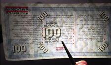 100DM Test Note Banknote Geldautomat Volksbank Sparkasse Deutsche Banken Geld