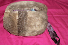 Vintage Mink Muff Hand Warmer Old Fur Womens Ladies Dress Winter Coat Accessory