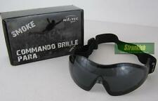 BRITISH ARMY STYLE COMMANDO AIR PRO PARA TACTICAL AIR SOFT GOGGLES BLACK SMOKE