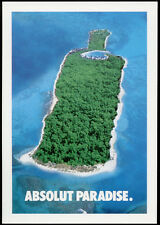 cartolina pubblicitaria PROMOCARD n.3817 ABSOLUT PARADISE VODKA collection n.218