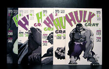 COMICS: Marvel: Hulk Gray #1-6 (1990s) set - RARE (figure/ironman/statue/thor)