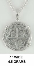 2 Reale Atocha Pirate Spanish Coin Shipwreck Key West Silver Chain Not Included