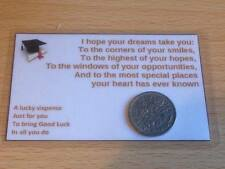 Graduation - Sixpence Wallet Card - Good Luck - Gift